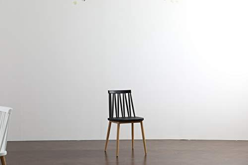 Commercial Seating Products Minimalist Modern Windsor Dining Chair - Black