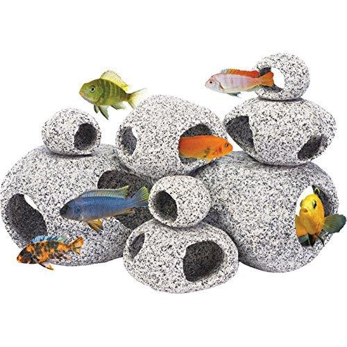 Penn Plax Deco-Replicas? 8 Piece Granite-Like Stone Hide-Aways Assortment