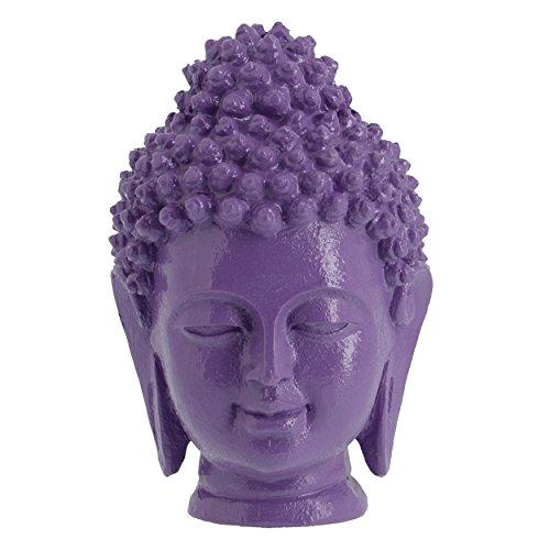 Buddah Heads - 4 1/2?H / 11.7 Cm Purple