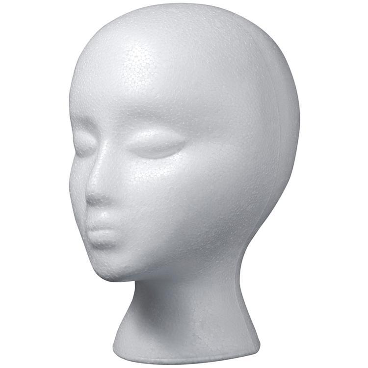 Styrofoam Head EPS Female Bulk-White
