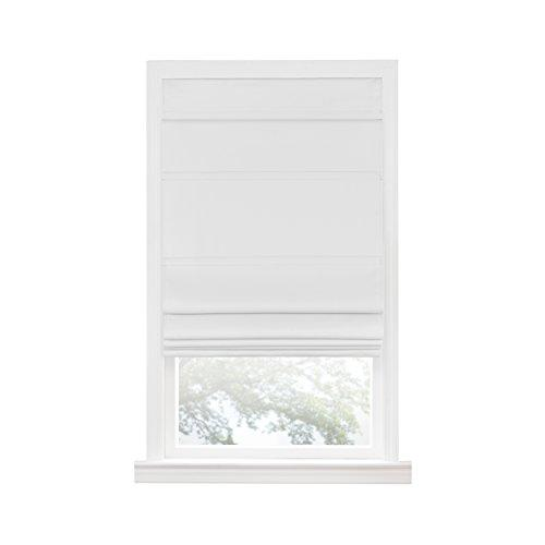 Cordless Blackout Roman Window Shade 30X64 White