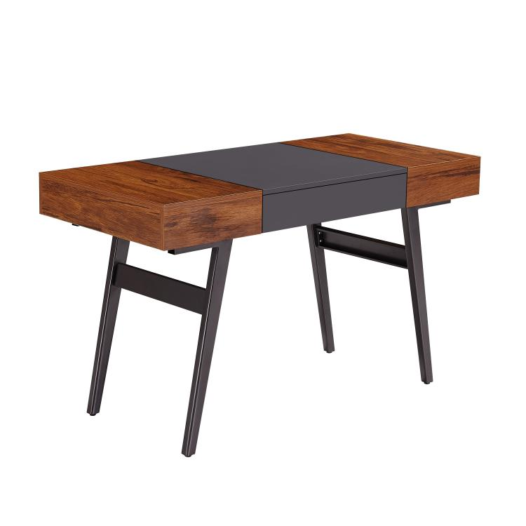 Techni Mobili Expandable Modern Desk with Storage, Mahogany