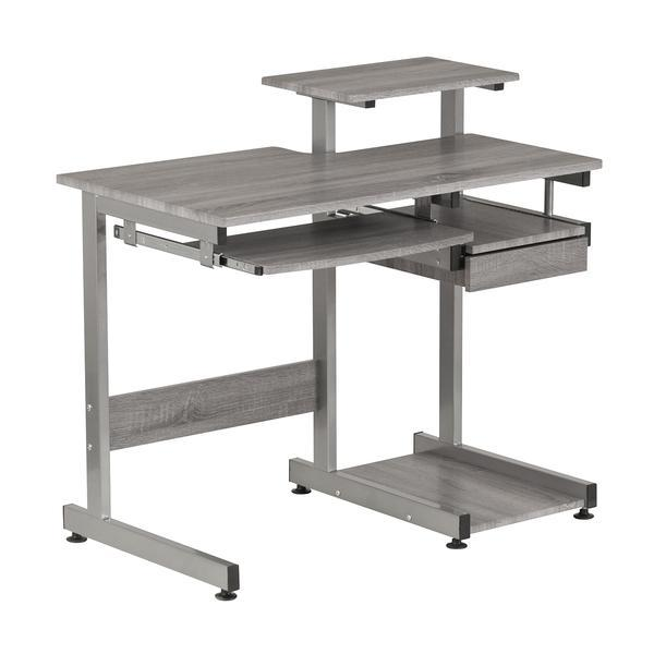 Techni Mobili Complete Computer Workstation Desk, Gray