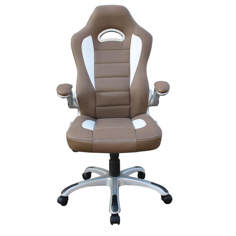 Techni Mobili High Back Executive Sport Race Office Chair With Flip-Up Arms