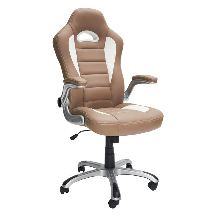 Techni Mobili High Back Executive Sport Race Office Chair With Flip