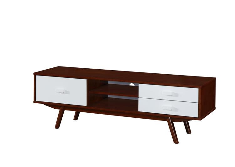 Techni Mobili Retro Wood Veneer TV Stand With Storage