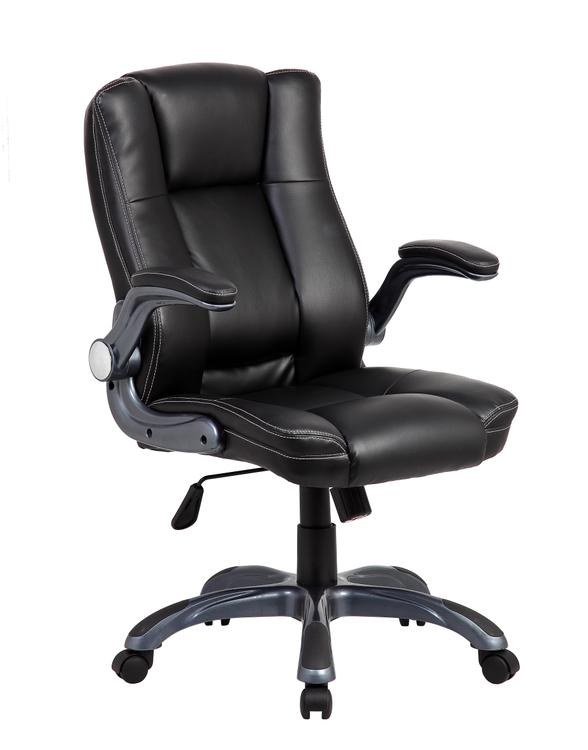 Techni Mobili Medium Back Executive Office Chair With Flip-Up Arms
