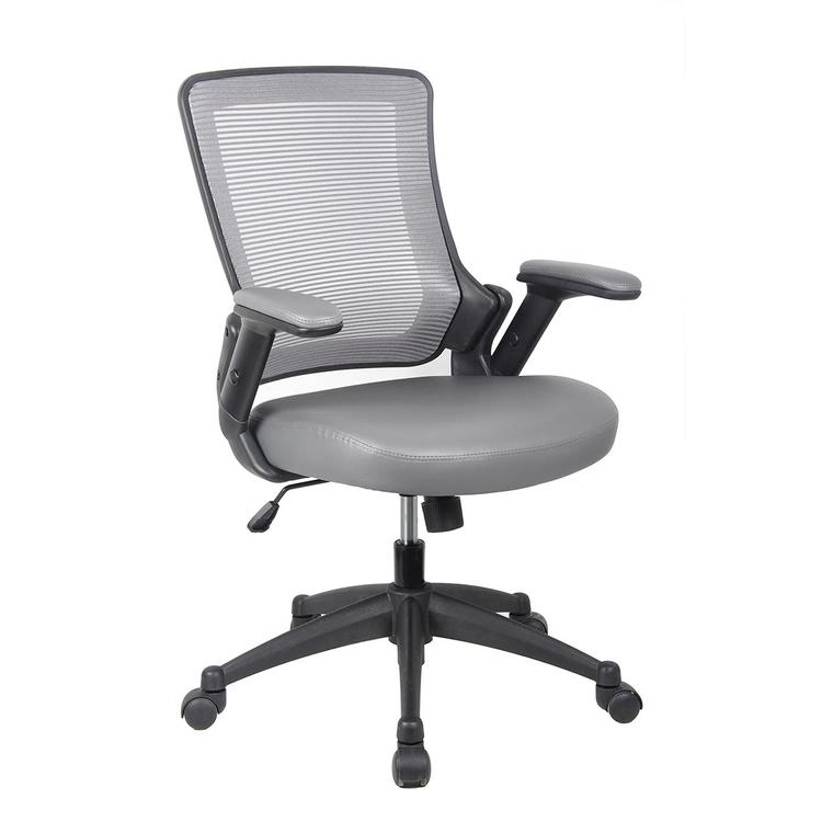 Techni Mobili Mid-Back Mesh Task Office Chair With Height Adjustable Arms