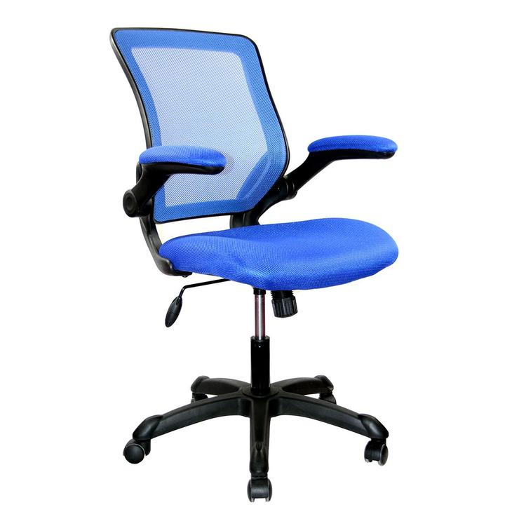 Techni Mobili Mesh Task Office Chair With Flip Up Arms