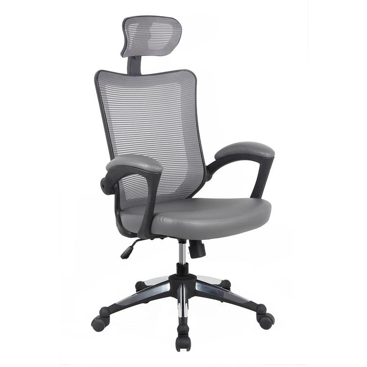 Techni Mobili High-Back Mesh Executive Office Chair With Headrest
