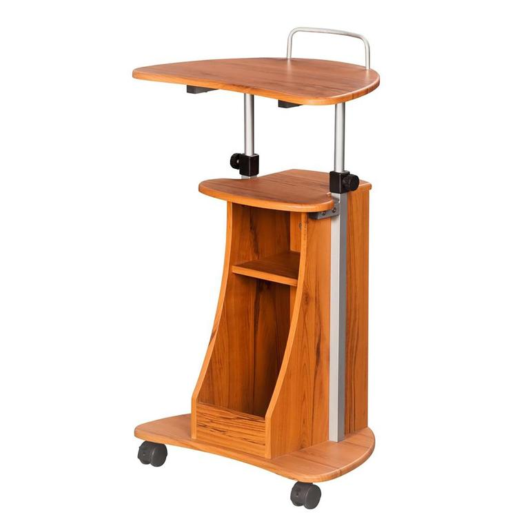 Techni Mobili Sit-To-Stand Adj Height Laptop Cart