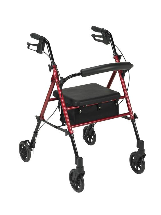 Adjustable Height Rollator Rolling Walker with 6