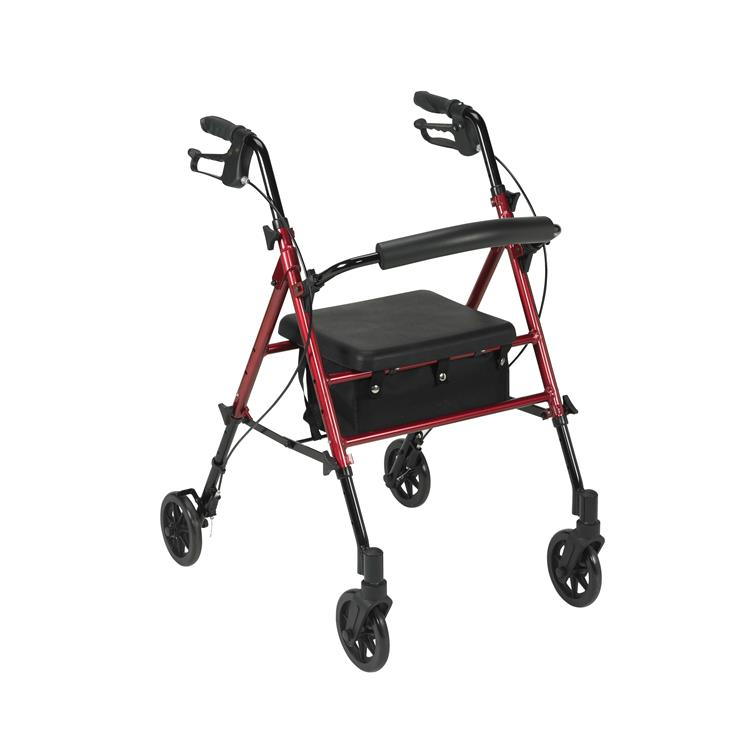 Drive Medical Adjustable Height Rollator Rolling Walker with 6