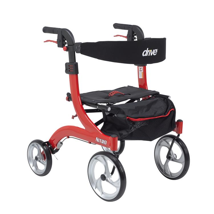 Drive Medical Nitro Euro Style Rollator Rolling Walker [Item # rtl10266-h]