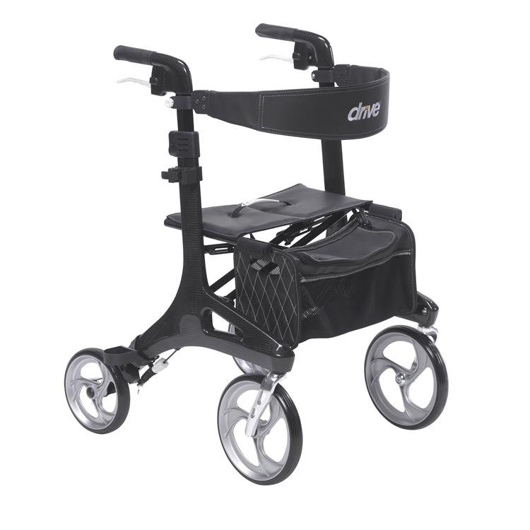 Drive Medical Nitro Elite CF Carbon Fiber Rollator Rolling Walker