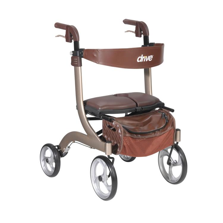 Nitro DLX Euro Style Rollator Rolling Walker, Champagne