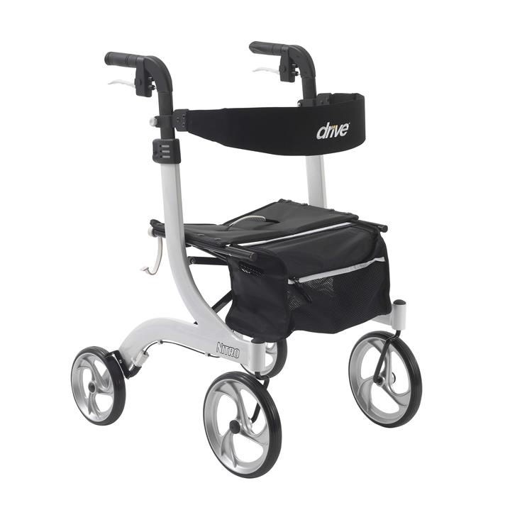 Drive Medical Nitro Euro Style Rollator Rolling Walker [Item # rtl10266wt]