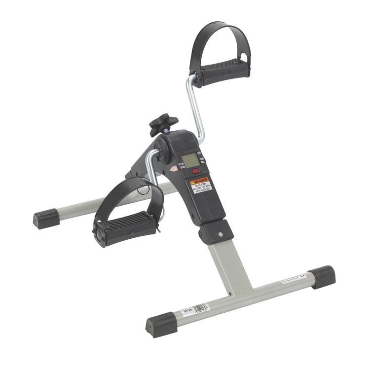 Folding Exercise Peddler with Electronic Display, Black