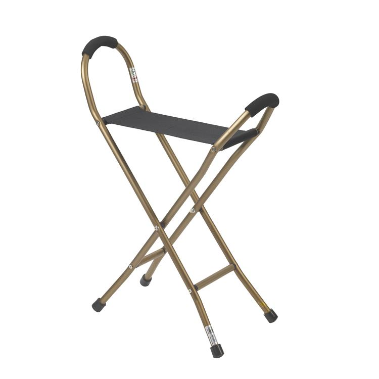 Drive Medical Folding Lightweight Cane with Sling Style Seat [Item # RTL10360]