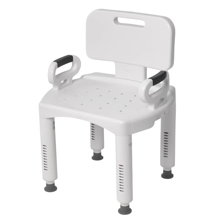 Drive Medical Premium Series Shower Chair with Back and Arms [Item # RTL12505]