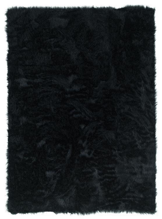 Faux Sheepskin Black  5 x 7