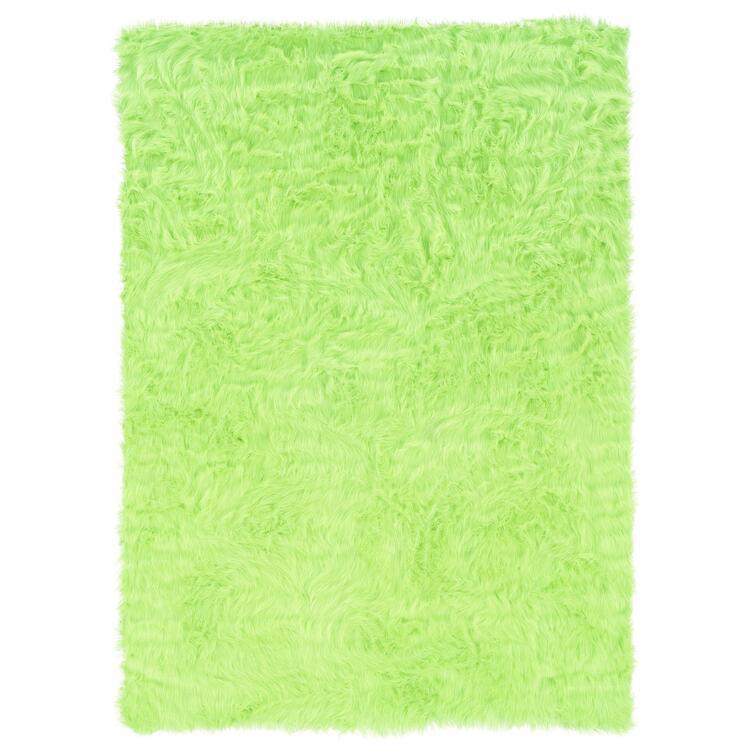 Faux Sheepskin Green & Green 5 x 7