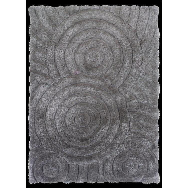 Linon Links Hand Tufted Circles Shag Area Rug