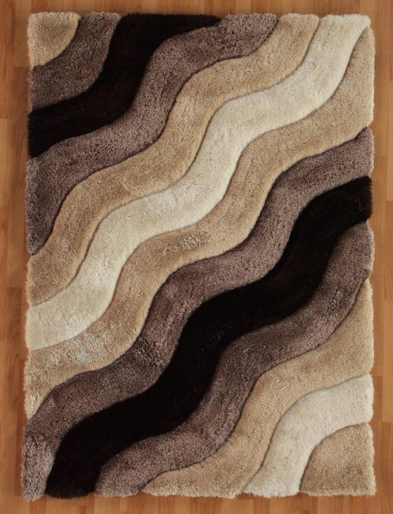 Linon Hand Tufted Links Wave Polyester Rug