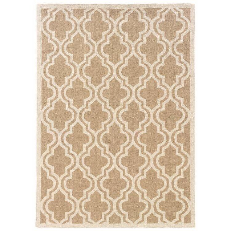 Linon Silhouette Quatrefoil Floor Coverings Rug