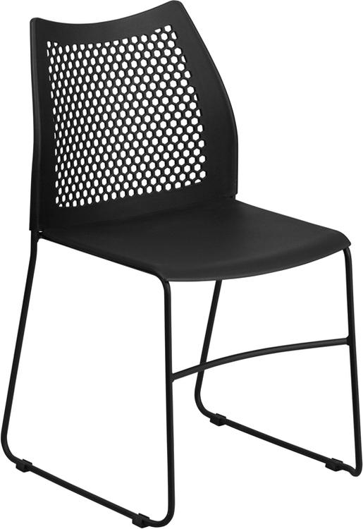 Hercules Series 661 Lb. Capacity Sled Base Stack Chair With Air-Vent Back