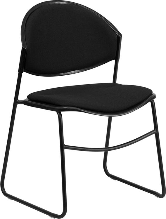 Hercules Series 550 Lb. Capacity Padded Stack Chair With Frame