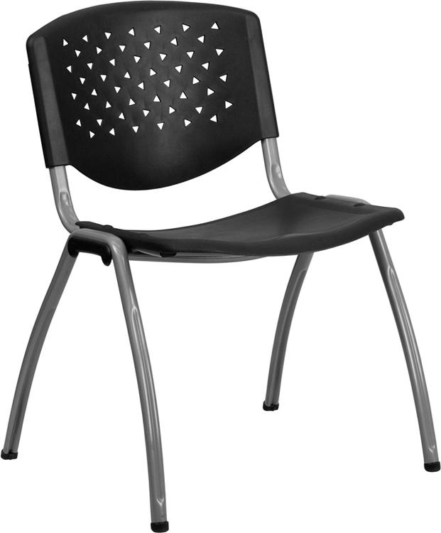 Hercules Series 880 Lb. Capacity Plastic Stack Chair With Frame