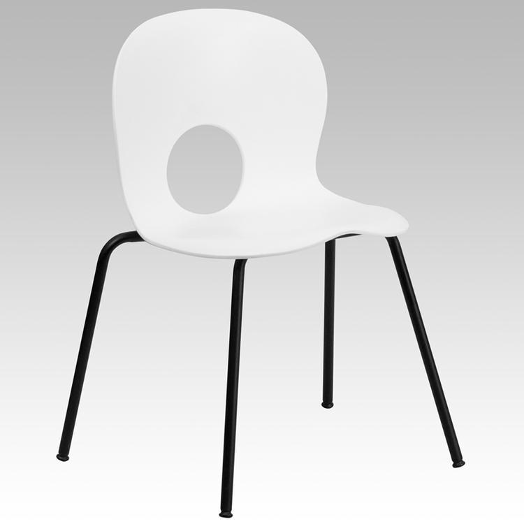 Hercules Series 770 Lb. Capacity Designer Plastic Stack Chair With Frame