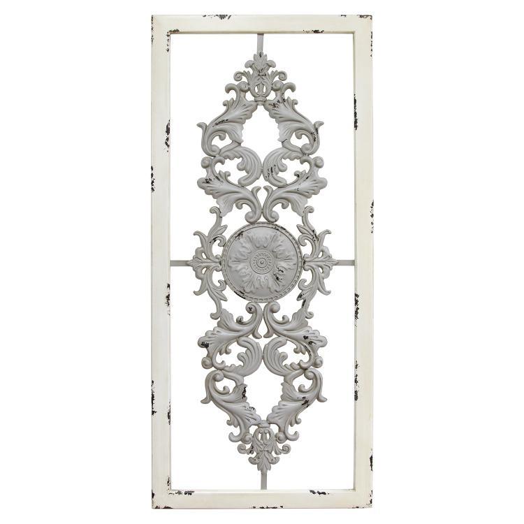 Stratton Home Décor Grey Scroll Panel Wall Decor