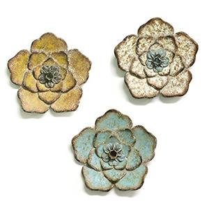 Stratton Home Decor Set of 3 Rustic Flower  Wall Decor