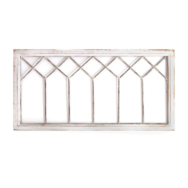 Stratton Home Décor Distressed Window Panel Wall Decor