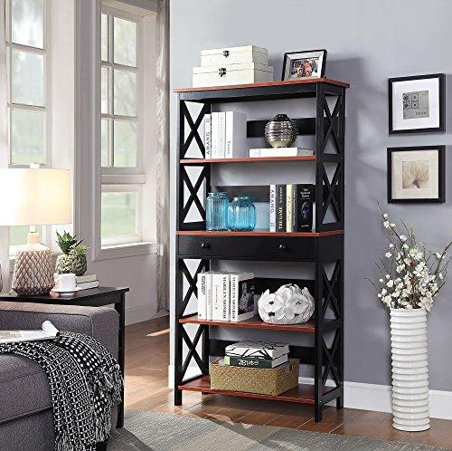 Oxford 5 Tier Bookcase with Drawer