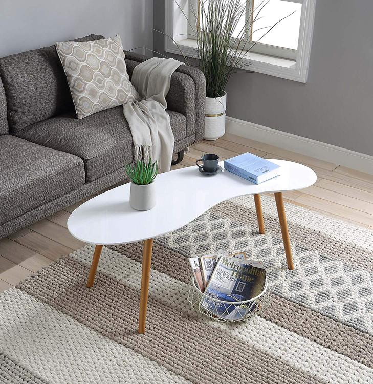 Convenience Concepts Oslo Bean Shaped Coffee Table