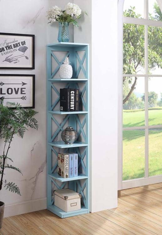 Convenience Concepts  Oxford 5 Tier Corner Bookcase