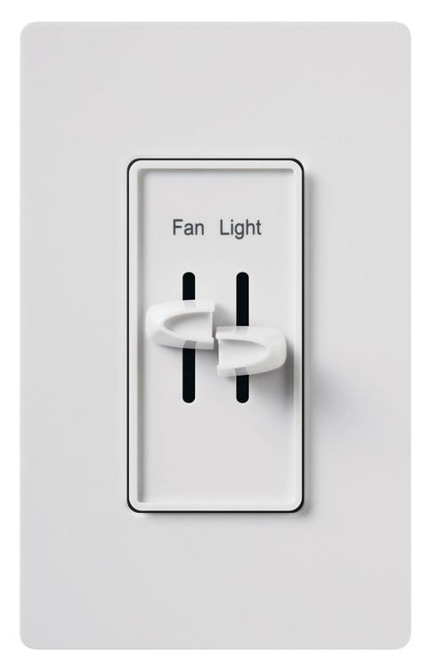 S2-Lfsqh-Wh Slide Cntrl Fan/Lt