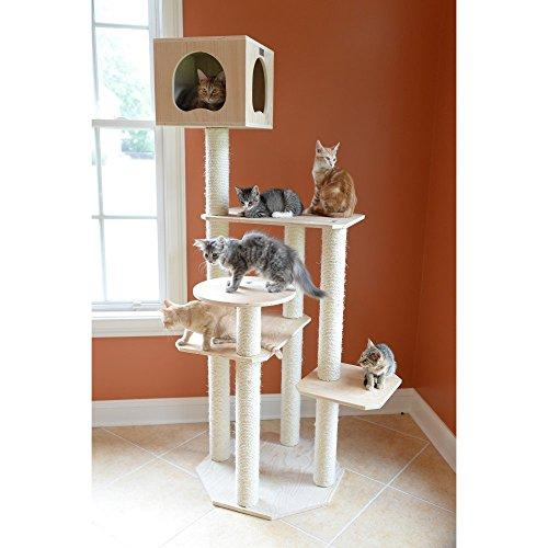 Armarkat Model S6905 Premium Pinus Sylvestris, Solid Wood Cat Tree,  69