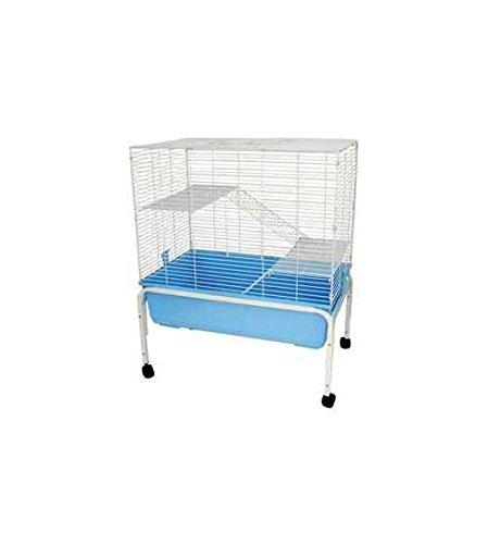 3 Levels Indoor Animal Cage Cat Ferret With Stand In Blue