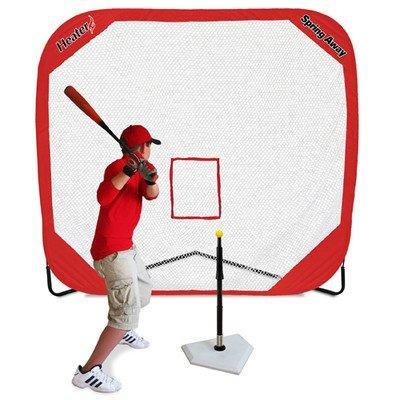 Heater Sports Spring Away Tee & Spring Away 7' x 7' Pop-Up Net