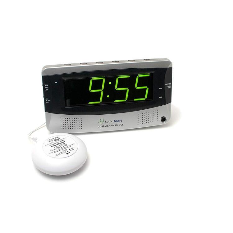 Dual Alarm Clock w/ Bed Shaker