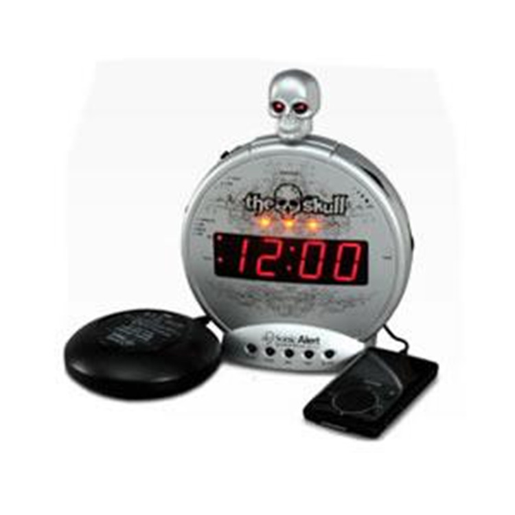 THE SKULL mp3/i-Pod Alarm w/Shaker