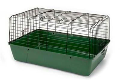 Medium Rabbit Cage / Green Base W/Black Wire