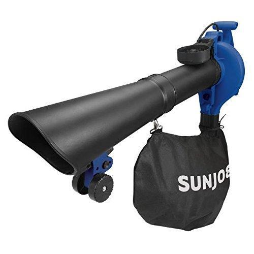 Sun Joe SBJ606E-GA-Blue 4-in-1 Electric Blower | 250 MPH · 14 Amp | Vacuum · Mulcher · Gutter Cleaner (Blue)