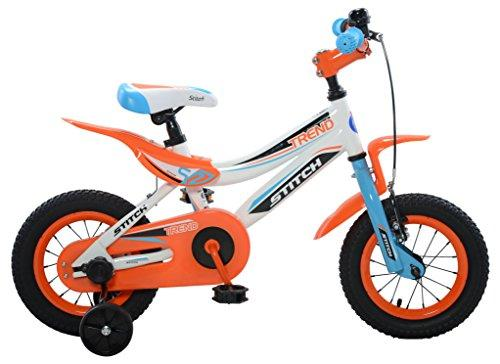 Trend Boy's Bike, 12 inch wheels, 9 inch frame, Blue/Orange