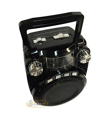 4 Band Radio with USB Black
