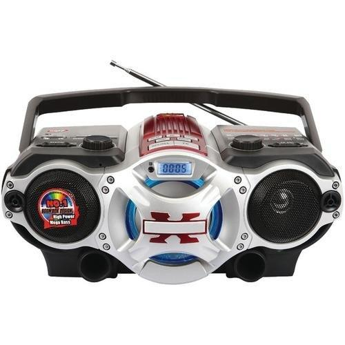 Bluetooth AM FM Boombox Red
